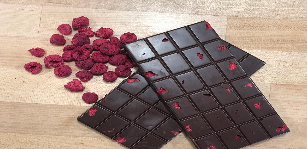 Dark Chocolate + Raspberries = Yum